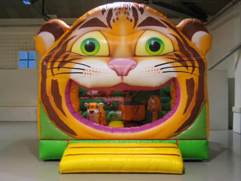 ALQUILER HINCHABLE TIGRE CARA www.medirflash.com