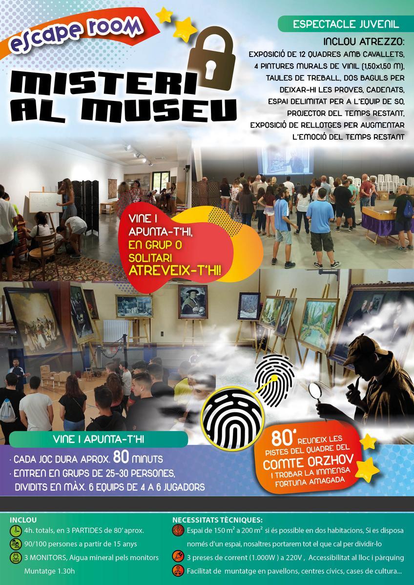 ALQUILER ESCAPE ROOM móvil MISTERIO AL MUSEO www.medirflash.com
