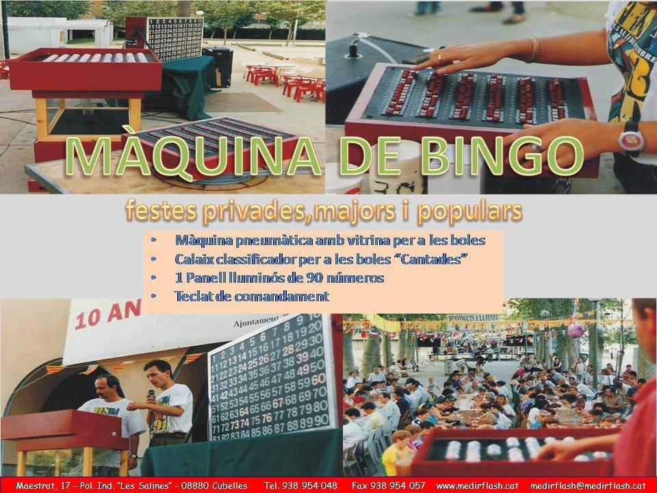 ALQUILER MÁQUINA DE BINGO www.medirflash.com